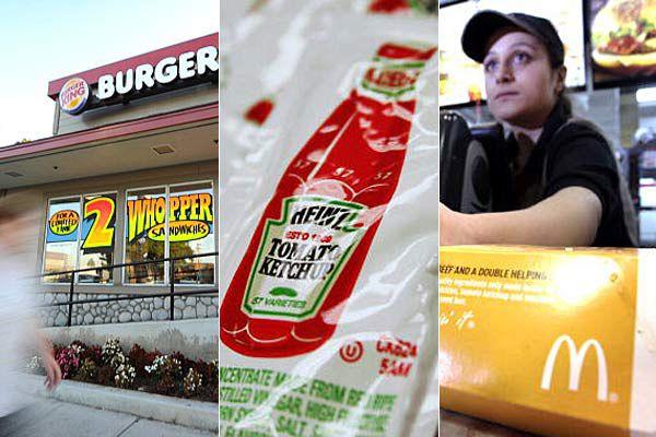 Burger King, Heinz Ketchup and McDonald's