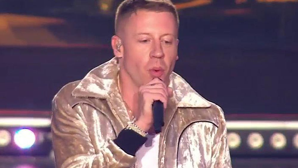 NRL grand final: US rapper Macklemore performs 'Same Love' in pre-game show