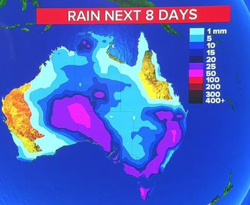 Australia is set for a soaking.