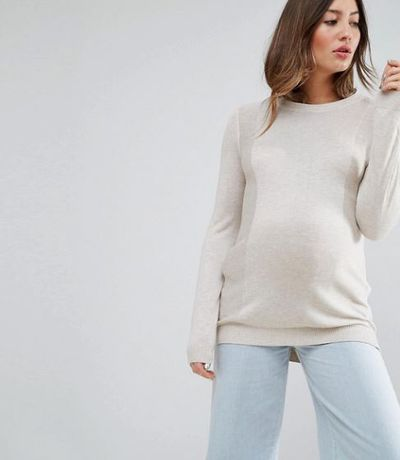 "<a href=""http://www.asos.com/au/asos-maternity/asos-maternity-jumper-with-crew-neck-and-panel-detail/prd/7785888?iid=7785888&clr=Stonemarl&SearchQuery=maternity&pgesize=36&pge=0&totalstyles=2046&gridsize=3&gridrow=2&gridcolumn=3"" target=""_blank"">Asos Maternity Jumper, $32.</a>"