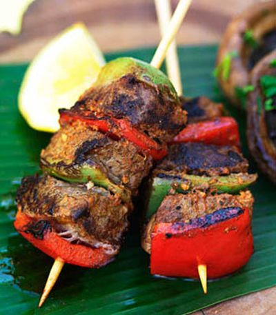 Barbecued beef adobo