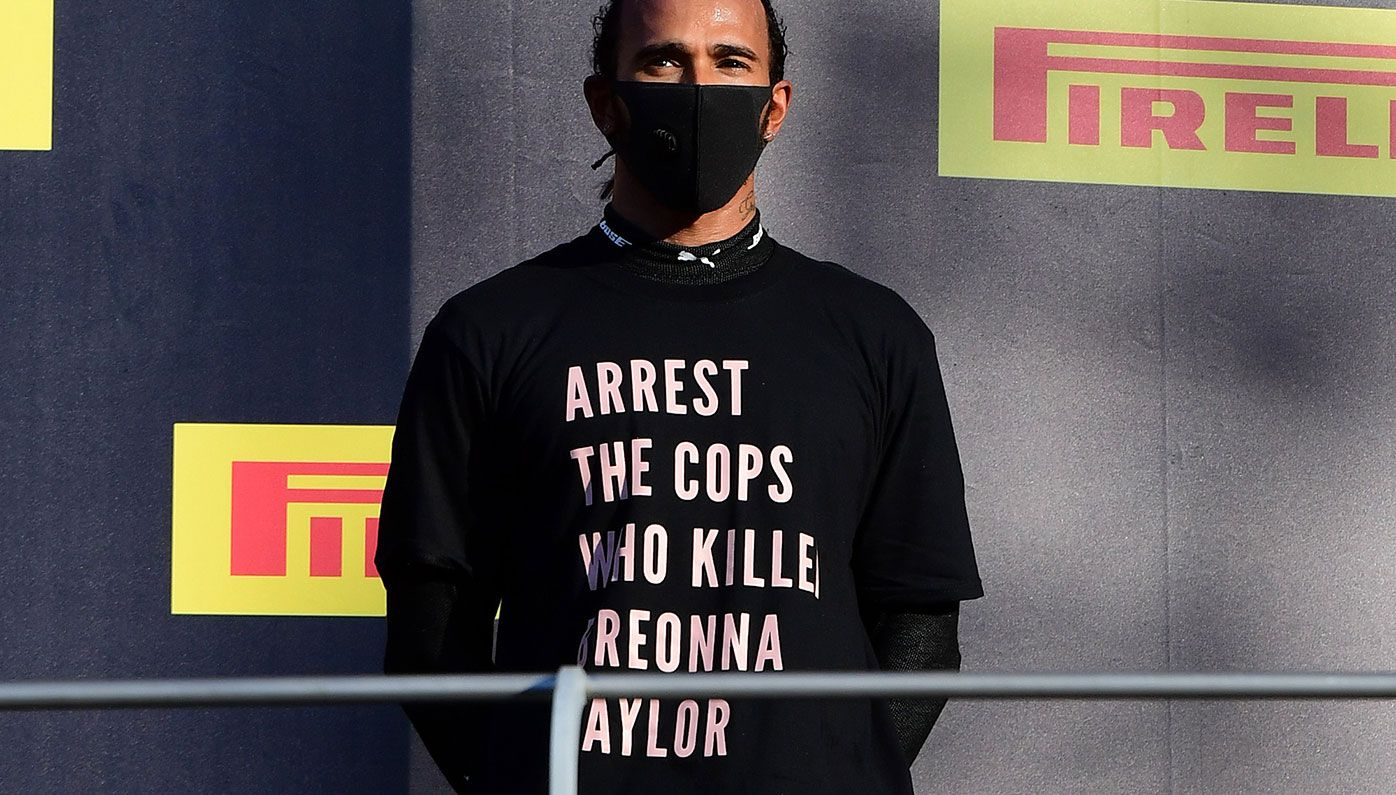 Lewis Hamilton in hot water over T-shirt with Breonna Taylor message at Tuscan GP – Wide World of Sports