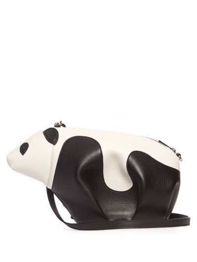 "Loewe leather cross panda bag, $1377 at <a href=""http://www.matchesfashion.com/au/products/Loewe-Panda-mini-leather-cross-body-bag-1078032"" target=""_blank"">Matches</a>"