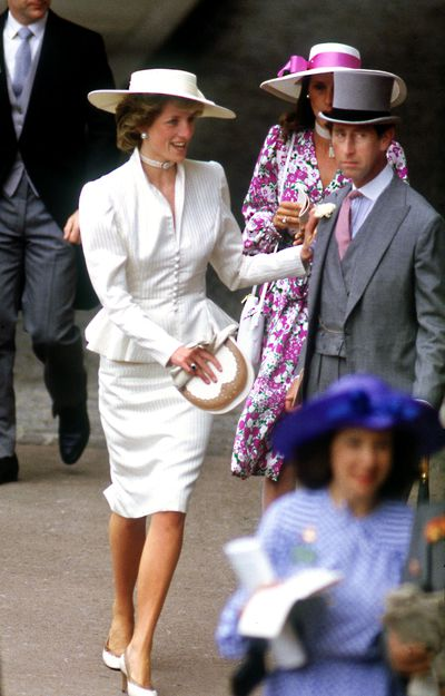 Sportinga cream peplum jacket and somerville hat at Royal Ascot.