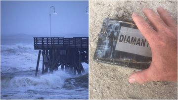 More than just rain and wind has been blown onto Florida shores by Hurricane Dorian, with bricks of cocaine found in the sand.