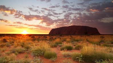 Uluru, Northerm Territory. Sunset