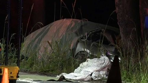 Three people were killed when the car came off the road near Ulladulla.