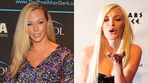 Kendra Wilkinson and Crystal Harris
