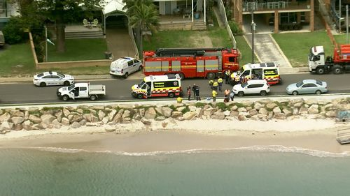 A woman was pulled from the water at Silver Beach, Kurnell.