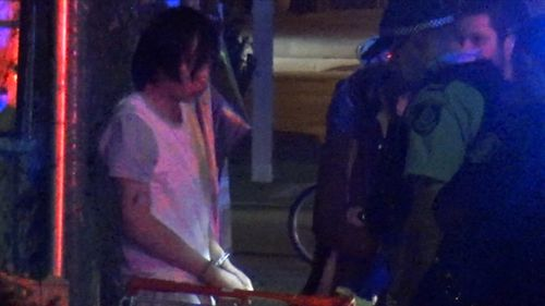 A 22-year-old man jumped into the unattended truck while the delivery driver was momentarily dropping something off. Picture: 9NEWS