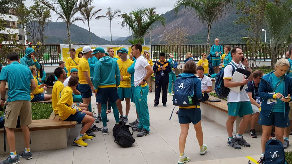 Australian athletes robbed during fire evacuation at athletes' village
