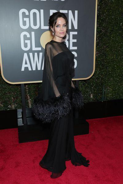 Actress Angelina Jolie inAtelier Versace