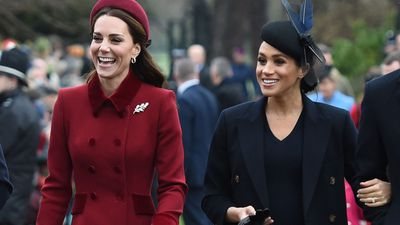 Kate Middleton and Meghan Markle attend church on Christmas Day, December 2018