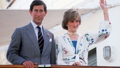 Prince Charles and Princess Diana on their honeymoon, 1981.