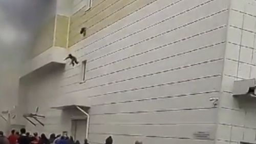 Witnesses are heard screaming as the boy plunges to the ground.