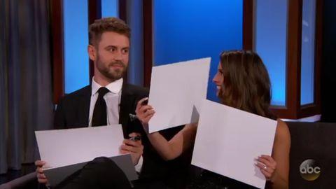Nick Viall and Vanessa Grimaldi celebrate engagement with Jimmy Kimmel