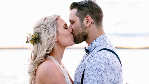Leah and Ben Debono were married in October last year. (60 Minutes)