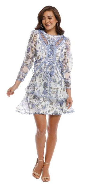 "<p><a href=""https://www.glamcorner.com.au/designers/thurley/bluebell-print-mini-dress"" draggable=""false"">THURLEY Bluebell Print Mini Dress</a></p> <p> $129&nbsp;rental </p> <p> $549 retail purchase</p>"