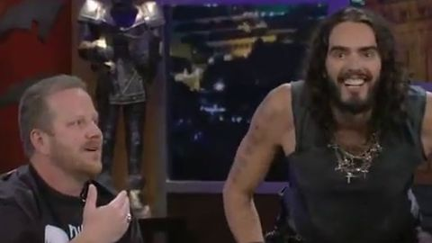 Watch: Russell Brand takes on anti-gay Christian church with 'actual gay' ambush