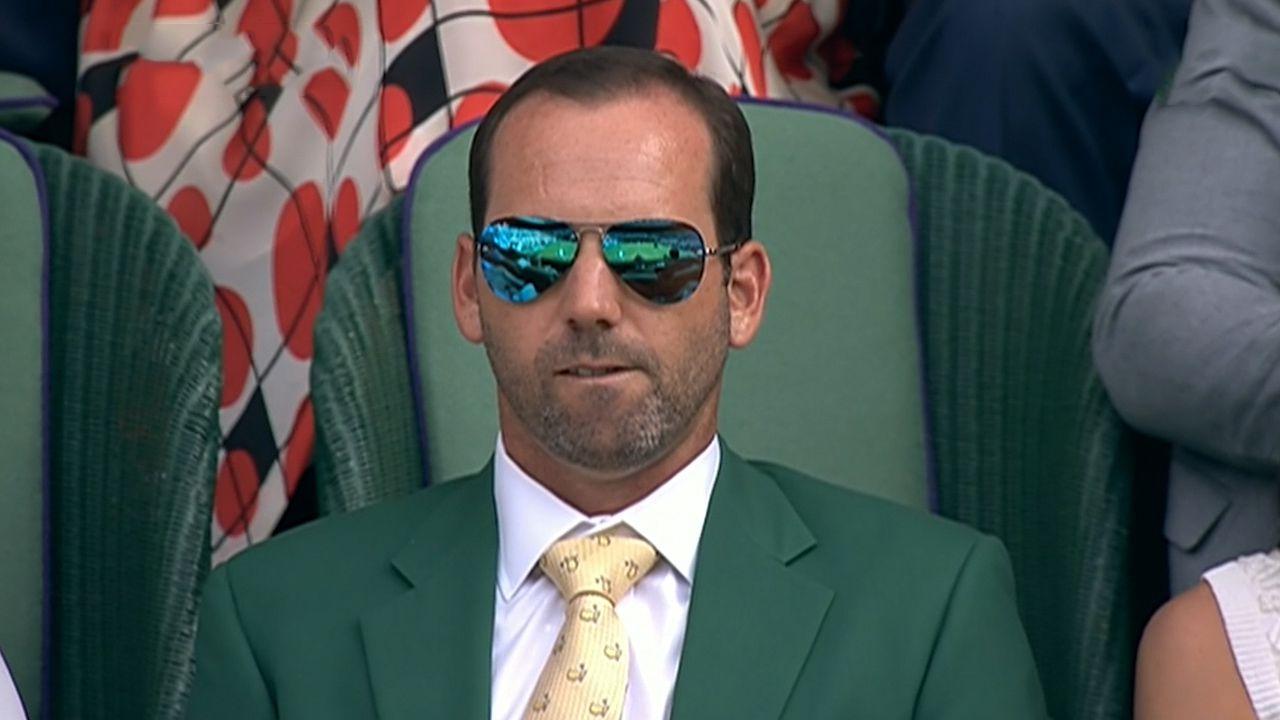 Garcia wears green jacket to Wimbledon