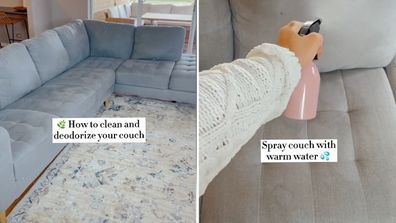 How to clean and deodorise your couch, TikTok hack