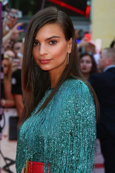 <p>Sleek and shiny all over and making it work like only Emrata can.</p> <p>Image: Getty.</p>