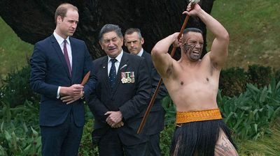 A few Maori dancers performed an ancestral war cry and encouraged William to join in, but he declined.