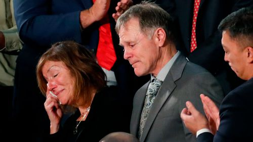 "Frank and Cindy Warmbier have accused the North Korean regime of ""brutally torturing and murdering"" their son. (AAP)"