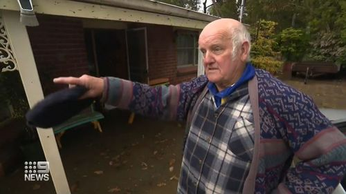 Mick Hollow's home in the town of Balhannah in the Adelaide Hills quickly became fell victim to flooding.