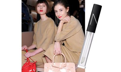 "<a href=""http://mecca.com.au/nars/lip-gloss/V-000378.html"" target=""_blank"">Nars' Triple X Lip Gloss</a> was applied to cheeks and eye lids at Mansur Gavriel for a no-fuss glossy look."