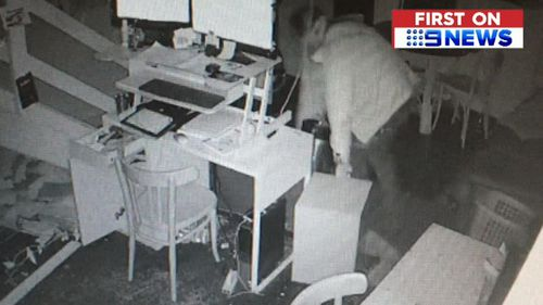 The burglary was caught on CCTV.