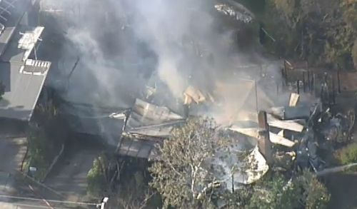 It's not clear what sparked the blaze. Picture: 9NEWS