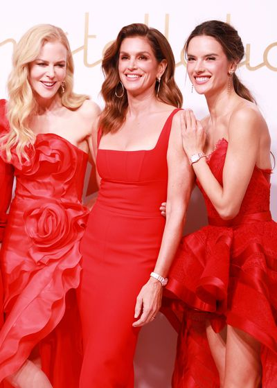 Nicole Kidman, Cindy Crawford and  Alessandra Ambrosio attend the Omega 'Constellations' launch event on October 23, 2018 in Shanghai, China.