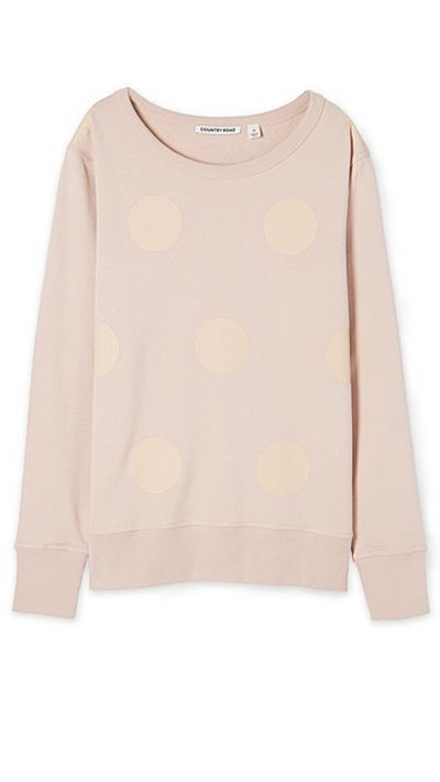 "<a href=""http://www.countryroad.com.au/shop/woman/clothing/sweats/spot-print-sweat-60181490"" target=""_blank"">Spot Print Sweat, $79.95, Country Road</a>"