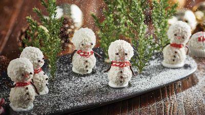 "Recipe: <a href=""http://kitchen.nine.com.au/2016/12/15/13/31/chocolate-coconut-snowman-bites"" target=""_top"">Chocolate coconut snowman bites</a>"