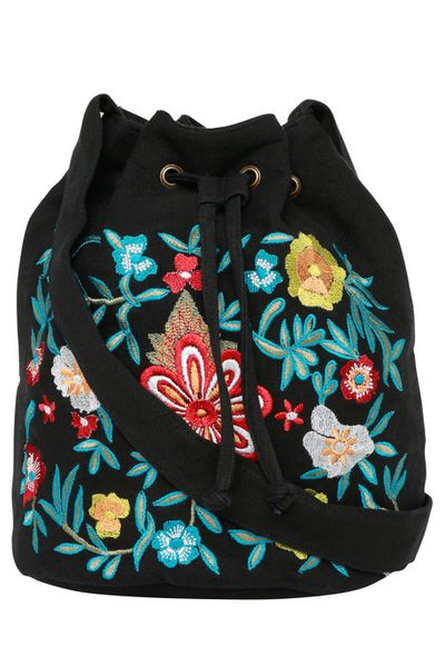 "Miss Shop embroidered bucket bag $49.95 at <a href=""http://www.myer.com.au/shop/mystore/handbag/bg-embroidered-bucket-bag-453208600"" target=""_blank"">Myer</a>"