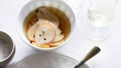 Quick pickled pears