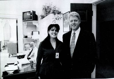 Photo of Lewinsky and Clinton released by the House Judicary committee on September 21, 1998.
