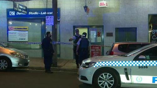 A crime scene has been established at the Kogarah premises as police investigate the incident.