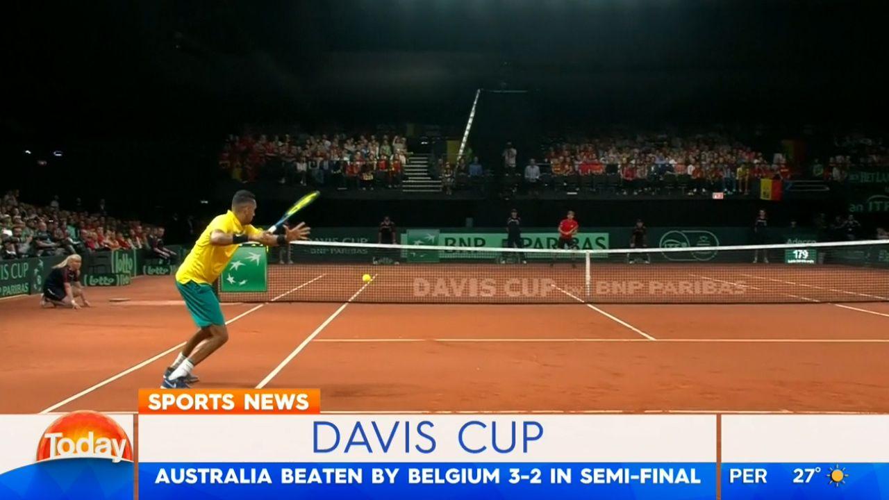 Aussies crash out of Davis Cup against Belgium