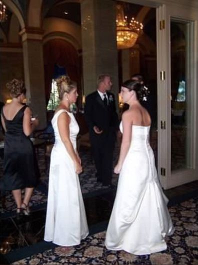 Bride reveals reason her mother-in-law wore a wedding dress to her wedding