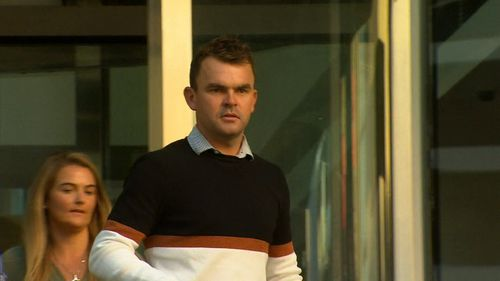 Jack Bobridge outside court.