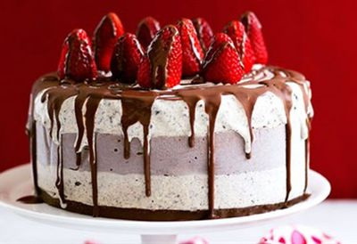 Chocolate ice-cream celebration cake
