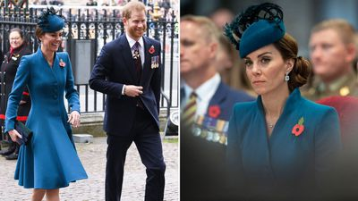 Kate Middleton and Prince Harry attend Anzac Day service, April 2019