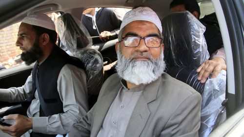 Zainab's dad Mohammed Amin on his way to the court