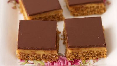 <strong>Caramel chocolate slice</strong>