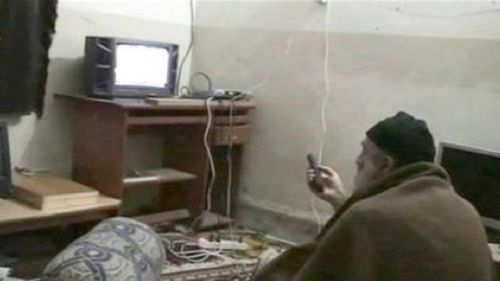 A photo of Osama Bin Laden inside his Abottabad compound. (AAP)