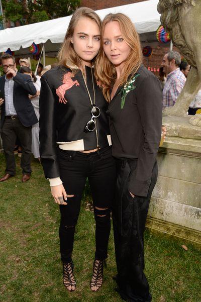 <p>Cara Delevingne and Stella McCartney</p>