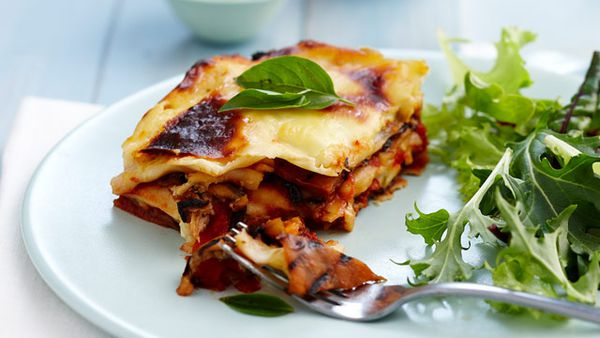 Char-grilled vegetable lasagne