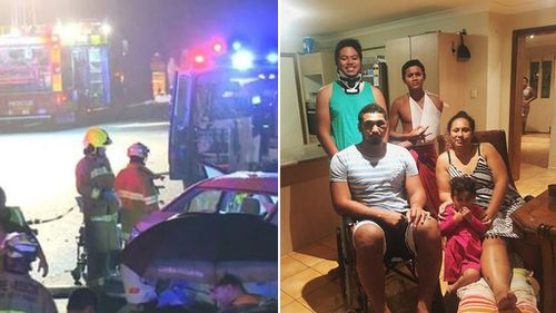'Thank god we're alive': Knights player Pauli Pauli opens up about car crash